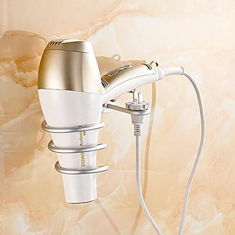 sdkky die Badezimmer sind integrierte Ablage Bad Gebläse Tablett Platz Aluminium Kanäle Regal Haartrockner Haar Rack new hair dryer support