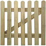 vidaXL Garden Gate 100x100cm FSC Wood Outdoor Garden Patio Panel Barrier Door