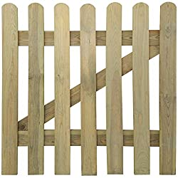 vidaXL Picket Gate 100 x 100 cm Pine Wood Rot-resistant Garden Patio High Quality