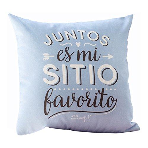 """Mr. Wonderful Funda de cojín """"Juntos es mi sitio favorito"""""""