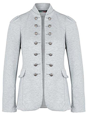 Damen Blazer Militäry Style ( 513 ), Farbe:Hell Grau, Blazer 1:42 / XL
