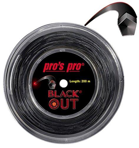 Tennissaite Blackout 200m 1.28 mm für Topspin