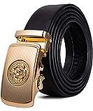 Cinturón Cuero Hombre, Cinturón Para Hombres, Cinturón Cuero Hebilla Automática, Cinturones Piel con Hebilla Automática - Traje Para Ropa Formal/Jeans YOHOWA