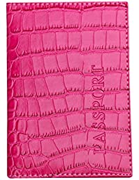 porta pasaportes para viaje, Sannysis funda pasaportes cartera organizador pasaporte juguete Protector de viaje dedicado Estuche de portada Accesorios Viaje Caja Tarjetas Identificación (Rosa caliente)