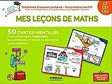 Mes leçons de math CP, CE1, CE2 - 50 cartes mentales pour comprendre facilement le calcul, la géométrie et les mesures