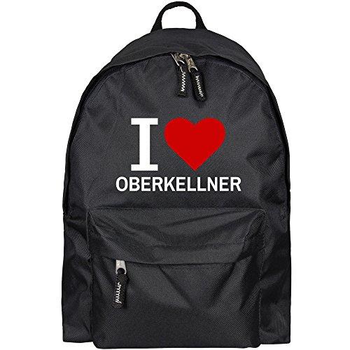 Rucksack Classic I Love Oberkellner schwarz