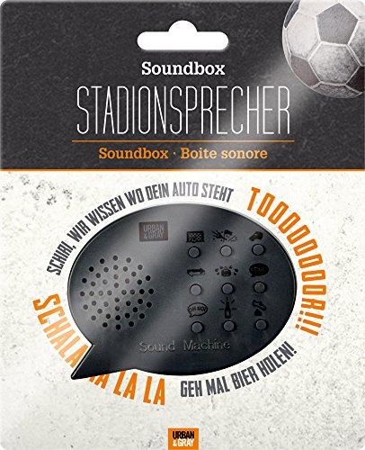 Spiegelburg 14730 - articoli da regalo e scherzetti - altoparlante, speaker, cassa audio con cori da stadio - Materiale: plastica - Colore: nero - 8 x 1,5 x 6 cm