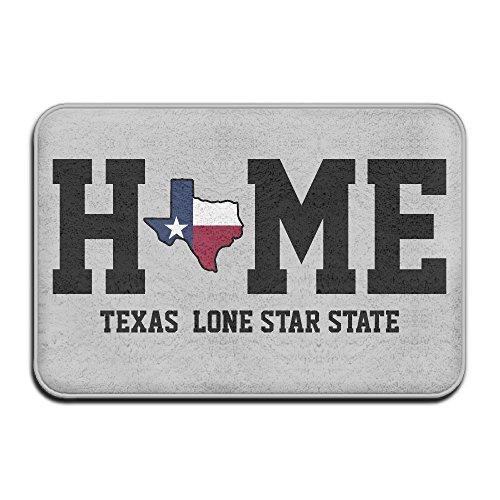 Texas My Home Lone Star statedoormat Entrance Mat Fußmatte/Front Tür/Bad-Teppich Matten Gummi rutschfeste - Usa Aus Texas State Karte