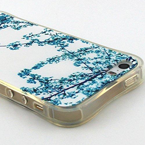 Apple iPhone 5/5S Custodia fit ultra sottile Silicone Morbido Flessibile TPU Gel Shell Custodia Case Cover Protettivo Protettiva Skin Caso Con Stilo Penna - Free to Fly(piuma) albicocca
