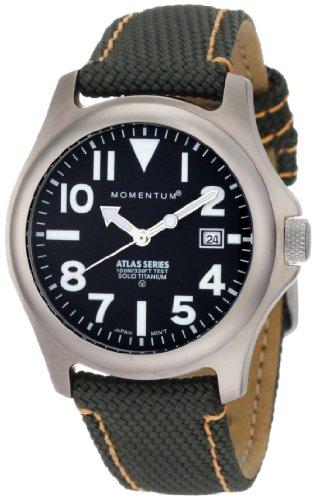 Momentum - 1M-SP00B14G - Montre Homme - Quartz Analogique - Bracelet Cuir Vert