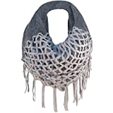 TININNA Inverno Caldo uncinetto Lavorato a maglia Infinity loop nappe morbide scialle Sciarpe dell'involucro della Sciarpa per le donne ragazze Grigio