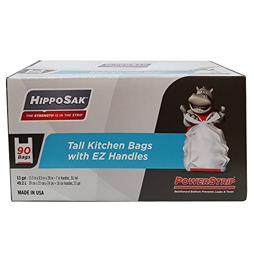 hippo-sak-handle-trash-bag-with-power-strip-13-gallon-tall-kitchen-90-count-by-hippo-sak