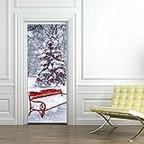 Lin-Tong Weihnachten Dekoration Türaufkleber Weihnachten Aufkleber Weihnachten Zuhause Abziehbild für Zuhause Wohnzimmerdekoration