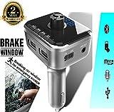 FM Transmitter, SIMCAST Car MP3 Player FM Transmitter Bluetooth Handsfree Car Kit Wireless Radio Audio Adapter with Dual USB 5V 2.1A USB Charger, LCD Display, 3.5mm Audio Port, TF Card Slot, USB Flash (CK02)
