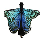 Overdose Frauen 197*125CM Weiche Gewebe Schmetterlings Flügel Schal feenhafte Damen Nymphe Pixie Halloween Cosplay Weihnachten Cosplay Kostüm Zusatz