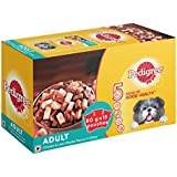 Pedigree Adult Wet Dog Food, Chicken and Liver Chunks in Gravy, 15 Pouches (15 x 80g)