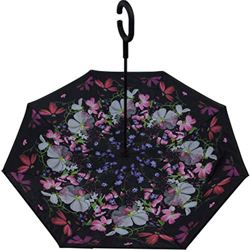 YuYa Sonnenschirm Freisprechen Auto Regenschirm Reverse Regenschirm Reverse auf dem Regenschirm Regenschirm Wetterregenschirm Doppelschirm F35 105cm