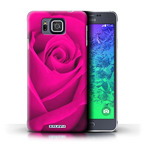 Kobalt® Imprimé Etui / Coque pour Samsung Galaxy Alpha / Pourpre conception / Série Rose Rose