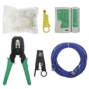 E-CNS ® nouveau testeur de câble pince à sertir Rj45 Cat5 Cat5e fiche 70 du outils Réseau