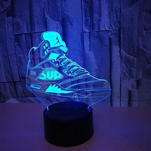 3D nacht lampe Kreative bunte USB sportschuhe LED Büro schlafzimmer Wohnkultur tischlampe für sport liebhaber geschenk -
