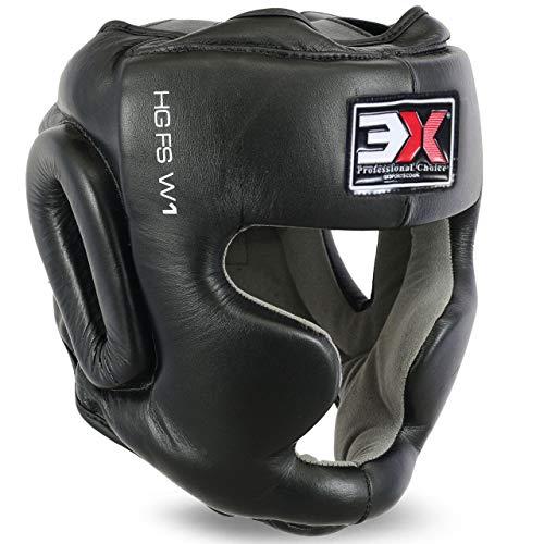 3 x deportes cabeza Guardia Pro Leather MMA Muay Thai Kick Boxing UFC. Casco de entrenamiento