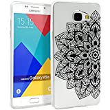 Coque pour Samsung Galaxy A5 2016, Mifine Ultra Mince Transparent [Souple et Flexible, Absorption des Chocs, Anti-rayures] TPU Silicone Soft Etui Housse Case (No.1-Noir)