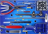 Armbanduhr Reparatur Tool Kit Set 16-teiliges Werkzeug zum Entfernen Spring Bar Pins Entferner Batteriewechsel Schraubenzieher Rückseite Entferner Öffner Kit
