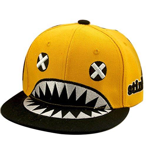 Belsen Kind Hip-Hop Hai Cap Baseball Kappe Hut (gelb)