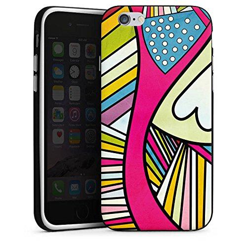 Apple iPhone 4 Housse Étui Silicone Coque Protection Motif Motif couleurs Housse en silicone noir / blanc