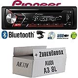 Audi A3 8L AKTIV - Autoradio Radio Pioneer DEH-S3000BT - Bluetooth | CD | MP3 | USB | Android Einbauzubehör - Einbauset