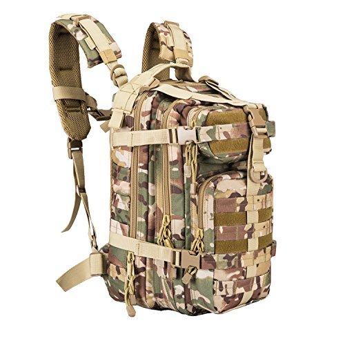 ArmycamouUSA Militär-Rucksack, klein, 3 Tage Armee, Molle Assault Rucksack für Outdoor, Wandern, Camping, Trekking, Bug Out Bag & Reisen, OCP 08009B