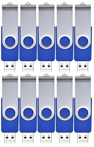 FEBNISCTE 10 pezzi 2GB Blu Girevole USB 2.0