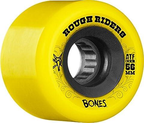 Bones Jeu de 4 Roues de Skateboard Atf Roughriders 56mm Jaune