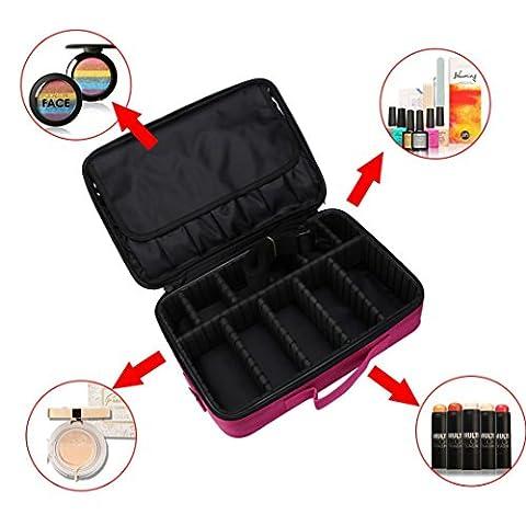 Hunpta Sac de maquillage professionnel Poignée de sac de maquillage de stockage Organiseur Artist kit de voyage