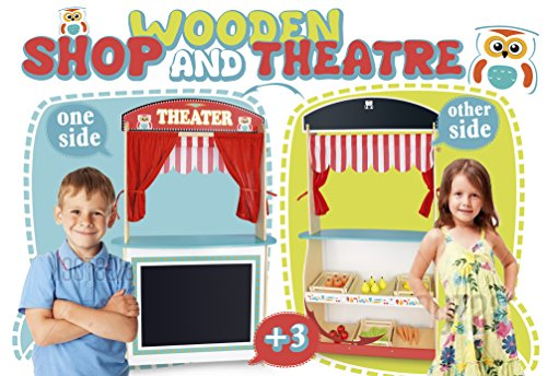 Unbekannt Puppentheater und Geschäft 5 in 1, Eine Reihe von Handpuppen. Puppets auf der Hand auferlegt. Puppentheater. Kauflanden Kasse mit Einem Taschenrechner und Barcode-Scanner Lebensmitteln