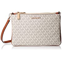 Michael Kors Adele Logo Crossbody Bag for Women-Vanilla