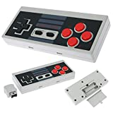 QUMOX Wireless Controller Gamepad für Nintendo Mini NES Classic Edition Rechargeable