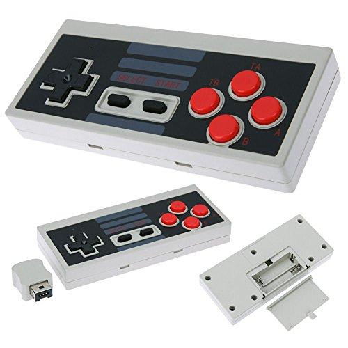 QUMOX Controlador inalámbrico Gamepad Nintendo Mini Clásico NES Consola Turbo Función