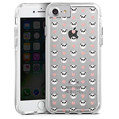 Apple iPhone 6s Plus Bumper Hülle Bumper Case Glitzer Hülle Muster ohne Hintergrund Panda Valentinstag Bumper Case transparent