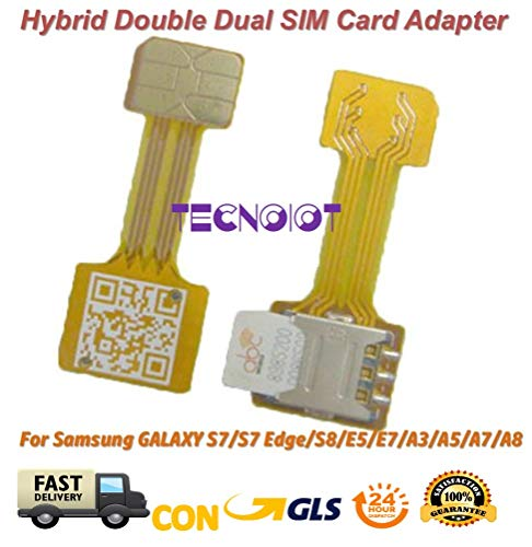 TECNOIOT Hybrid Dual SIM Card Adapter Micro SD Nano SIM Extension Adapter for Android |Double SIM Nano à Nano SIM Adaptateur Adaptateur Carte SIM Samsung Huawei Xiaomi HTC