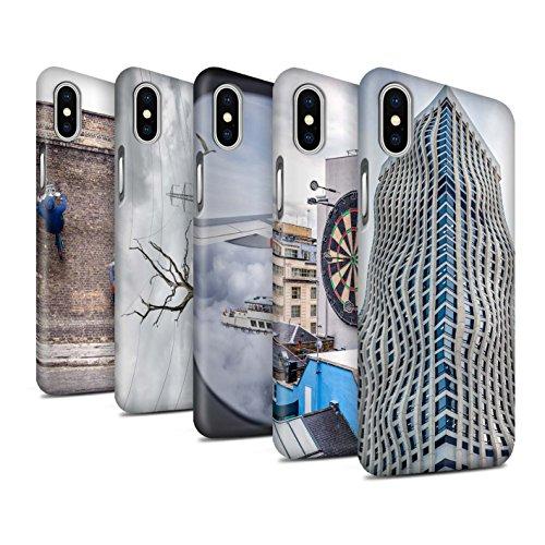 STUFF4 Matte Snap-On Hülle / Case für Apple iPhone X/10 / Große Flucht Muster / Vorstellen Kollektion Pack 29pcs