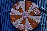 Tolle Torte 38 Geldgeschenkverpackung aus Papier zum 50. Geburtstag, Geld verschenken, Geschenkverpackung