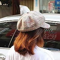 Hat Sombrero De Mujer De Color Mixto, Gorra Octogonal De Otoño E Invierno, Gorra Retro Británica Femenina, Boina De Algodón Casual De Primavera Y Otoño,Beige,Un tamaño
