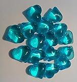 30 türkis-groß-Herz-en-Deko-Steine-Diamanten-für-Hochzeit-Geburtstag-Valentin-Tag-ca.2 cm x 2 cm Tisch-deco-Tau-Tropfen-Glas-Perlen-vom Sachsen Versand
