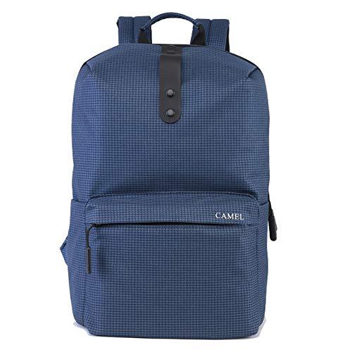 CAMEL CROWN Lässig Rucksack Reiserucksack College Laptop Rucksack Wasserdicht Buch Tasche bis zu 15 Zoll Notebook