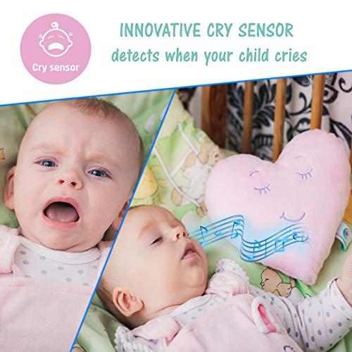 MyDreamys Humming Plüsch Herz Hochwertiges Kuscheltier mit Cry Sensor, Schlafsensor, spielt 5 White Pink Noise Geräusche als Einschlafhilfe für Babys und Kinder - white, und, spielt, Sensor, Schlafsensor, Plüsch, Pink, Noise, MyDreamys, mit, Kuscheltier, Kinder, Humming, Hochwertiges, Herz, Geräusche, für, einschlafhilfe kind, einschlafhilfe, Cry, Babys, Als