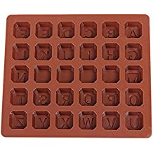 26 letra molde de silicona Chocolates Molde de la torta del molde de bbaking espacios cubo
