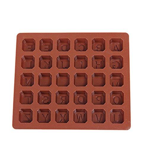 26 letra molde silicona Chocolates Molde torta molde