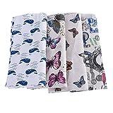 Souarts 4 Stück Stoffpakete DIY Kleine Blume Muster Baumwolltuch Patchwork Stoffe Paket 98x50cm