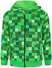 Minecraft Childrens/Boys Creeper Character Hoodie